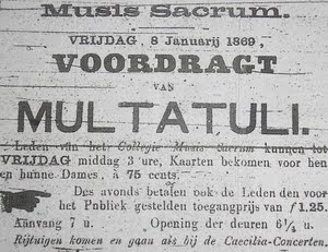 Drie Lezingen Over Multatuli Blog