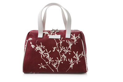 apple & bee red apple blossom bowling bag