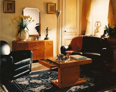 House home garden living room art deco - Art deco living room ...