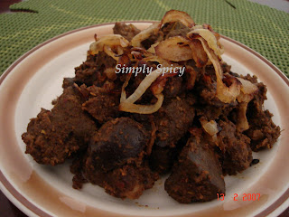 Liver Masala Fry & Curry