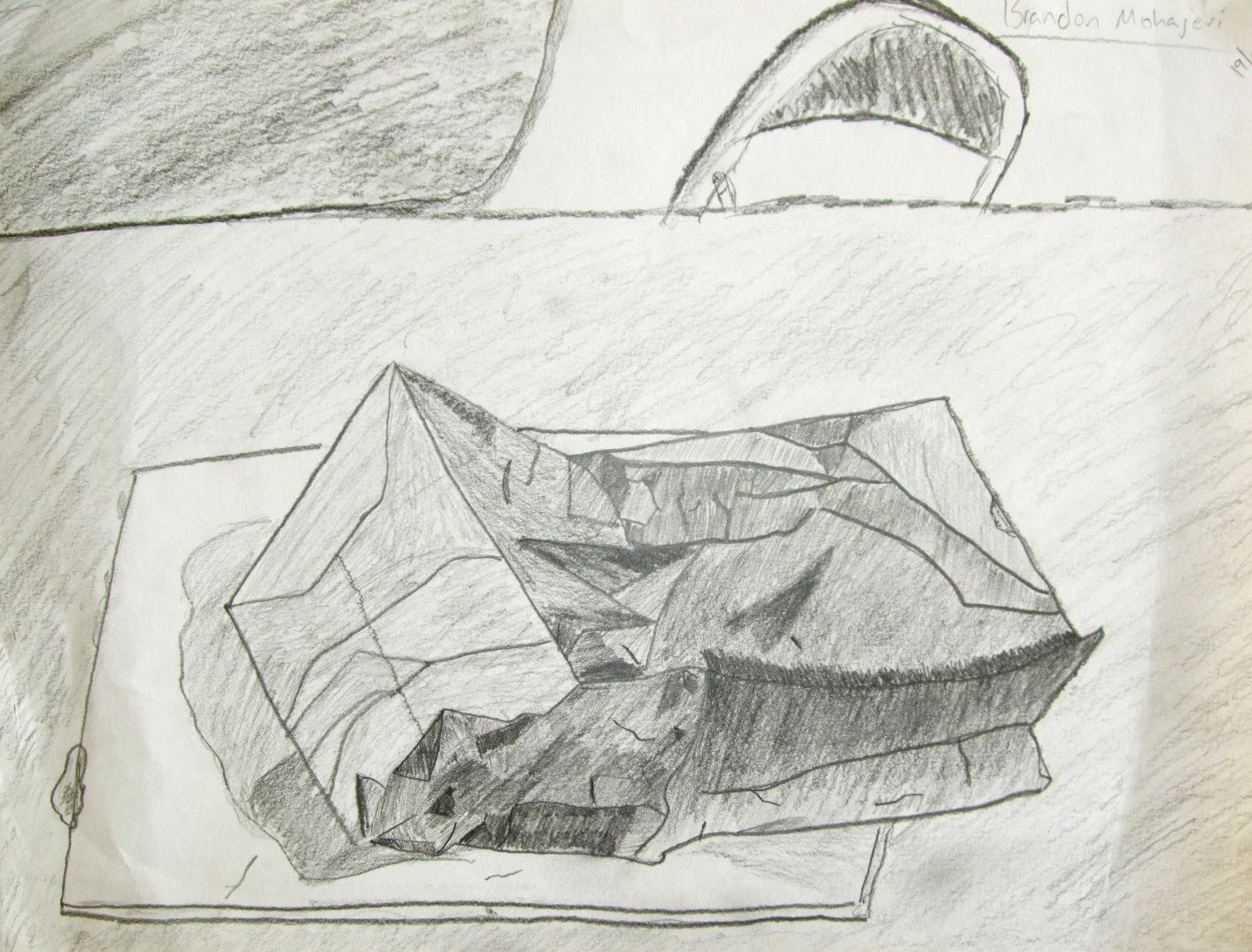 Highschoolart Paper Bag Drawing High School Art