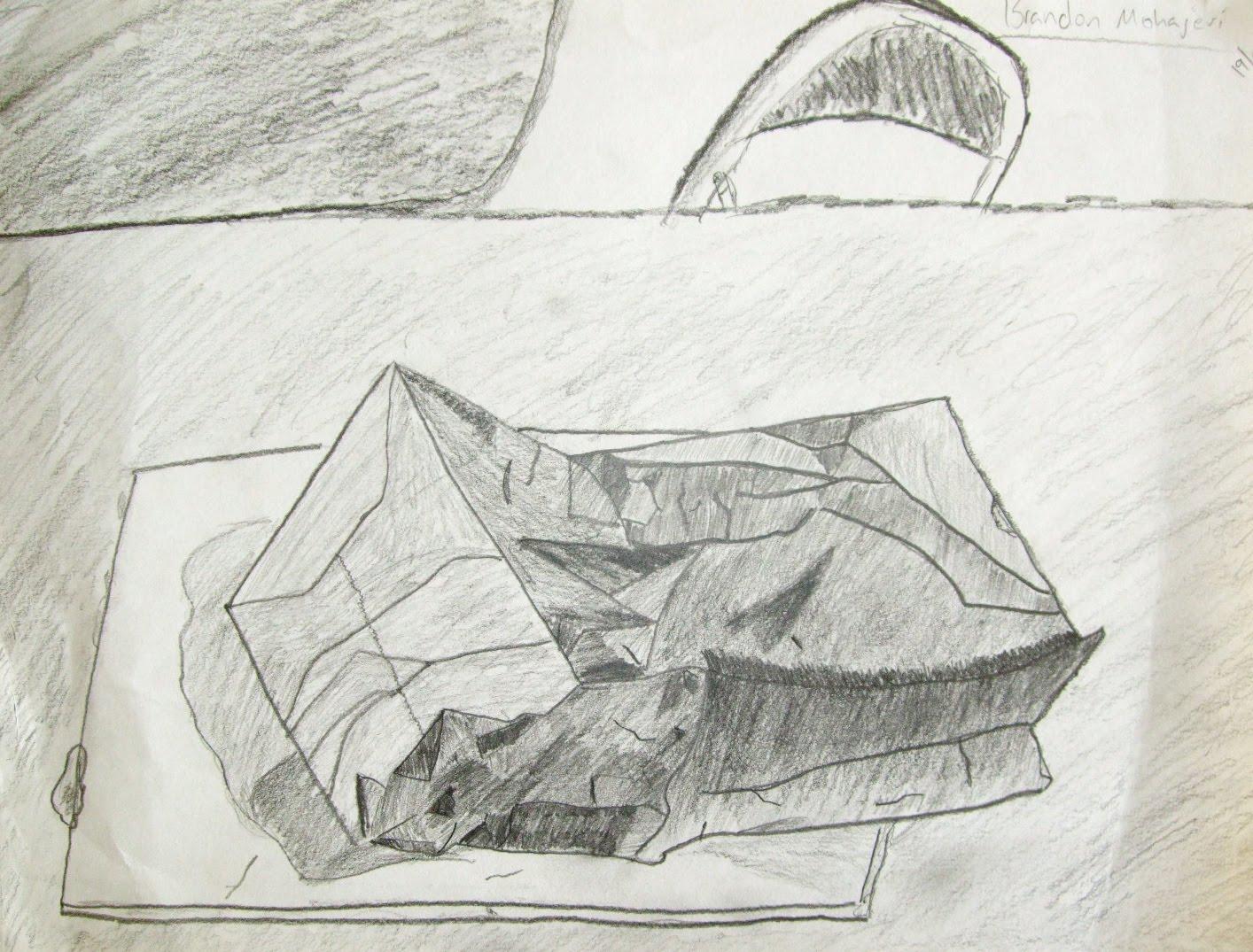 Highschoolart Paper Bag Drawing High School Art