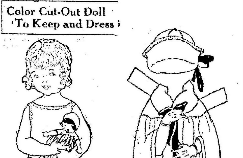 Mostly Paper Dolls: Color Cut-Out Doll To Keep and Dress, 1923
