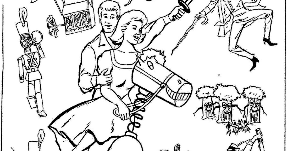 Mostly Paper Dolls: BABES IN TOYLAND Movie Coloring