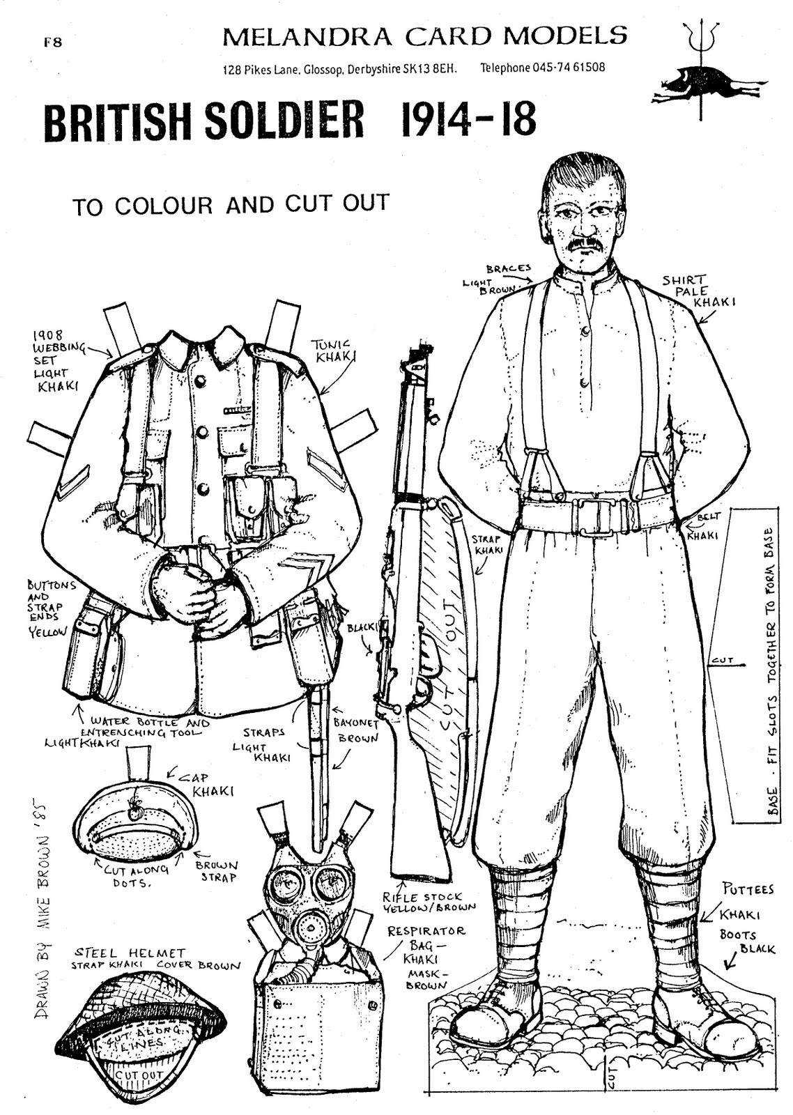 Mostly Paper Dolls: BRITISH SOLDIER 1914-18 from Melandra
