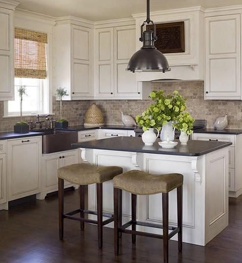 Dark Counters Dark Floors White Cabinets: The Tile Shop: Design By Kirsty: Beautiful Tilework