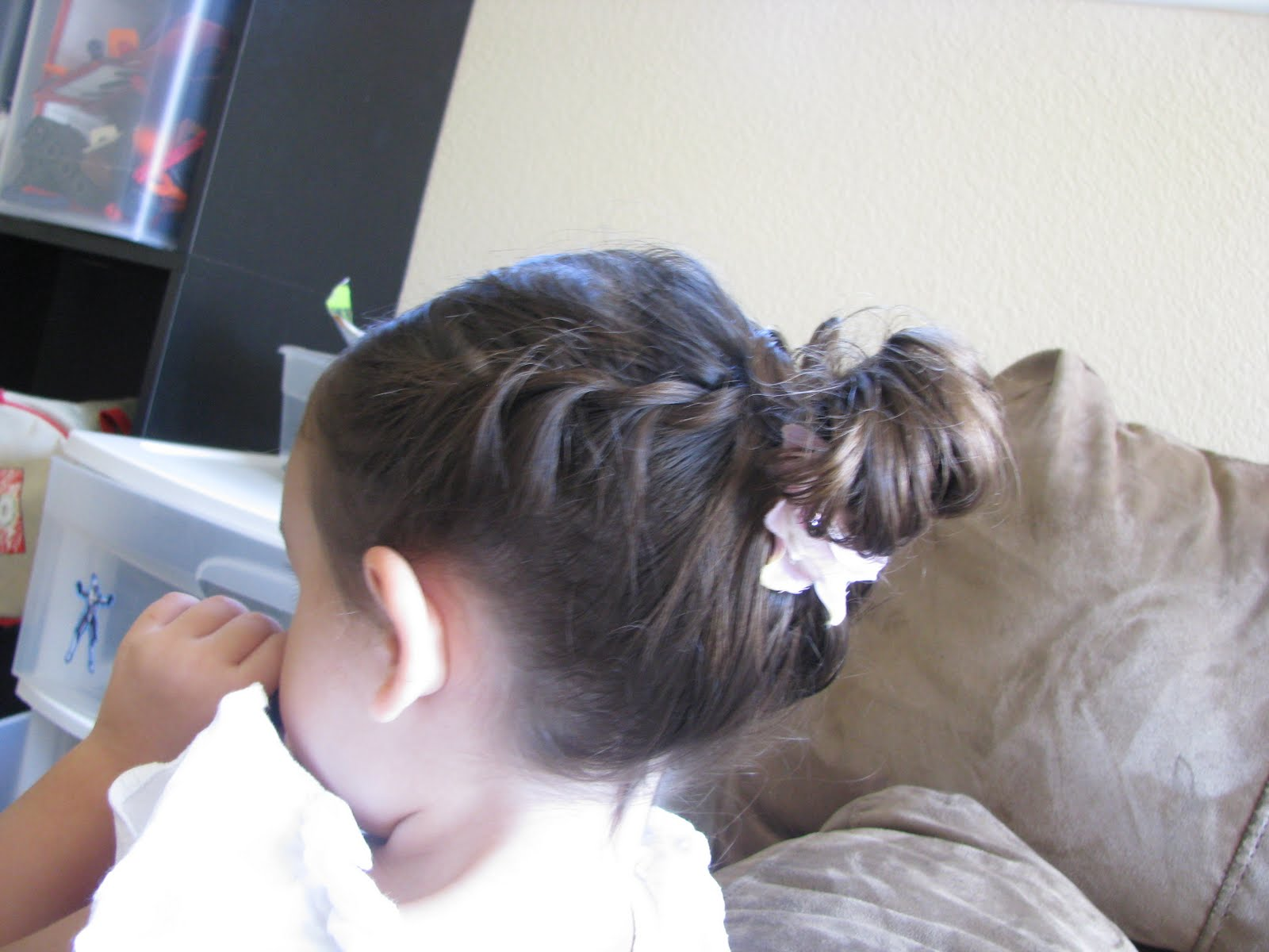 Cute Girls Hairstyles  Twists Into Side Ponytail