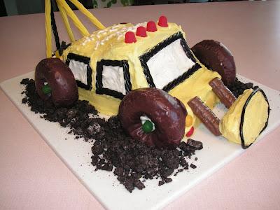 backhoe cake
