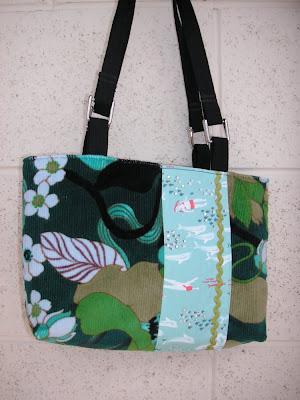 handmade purse, blue lagoon fabric, art purses