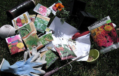 planting a garden, starting with seeds