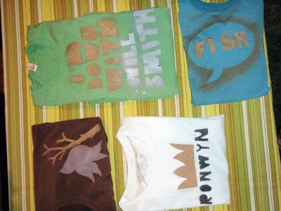 spray painting tees