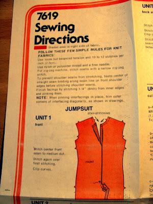 jumpsuit pattern Simplicity 7619