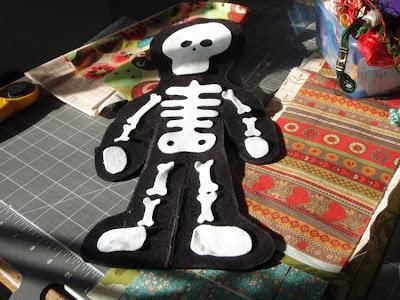 felt skeleton doll