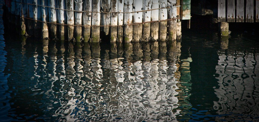 Reflections at Picton wharf
