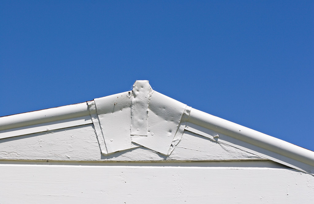 White roof, blue sky