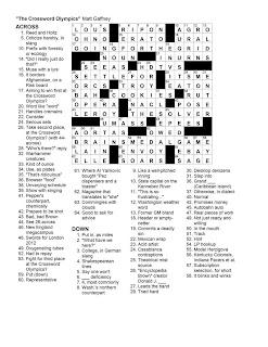 Matt Gaffney's Weekly Crossword Contest: February 2010