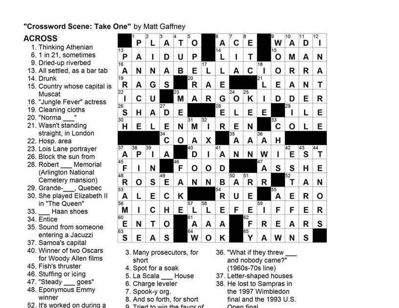 Matt Gaffney's Weekly Crossword Contest: MGWCC #132