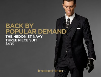 692193ae4 Hedonist Navy Three Piece Suit is back!