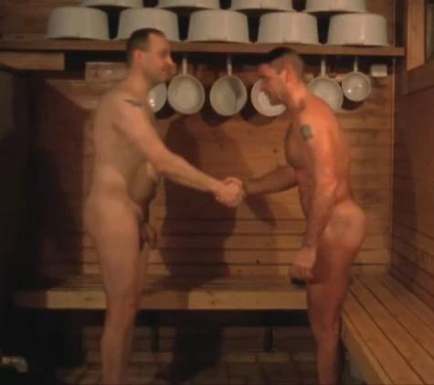 gay guys in sauna