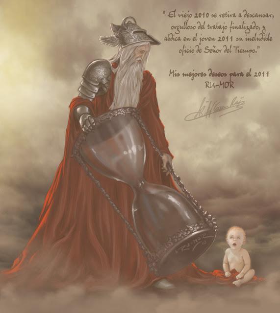 Ilustración fantasía felicitación comienzo del 2011 hecha por ªRU-MOR
