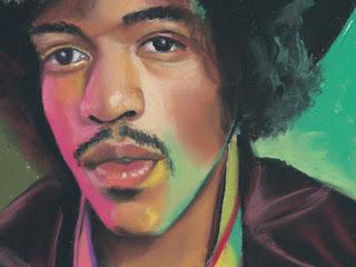 Jimi Hendrix daily pastel painting