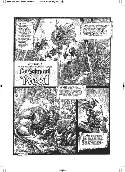 COMICS / FANTASIAS:  PENCIL AND INK MERIGGI