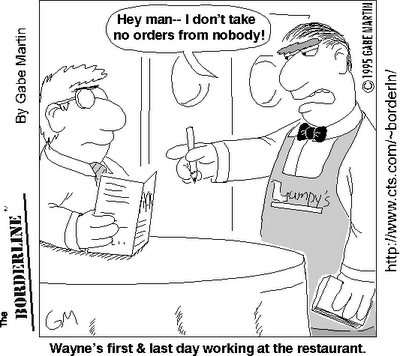 Tiptop Waiter and Waitress: Introduce Yourself by Name