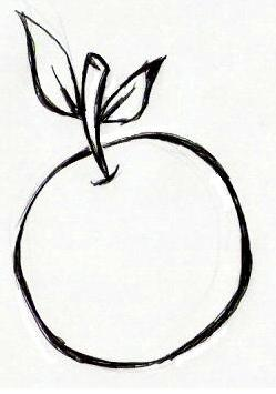 Desenho De Laranja E Banana Para Imprimir E Colorir Desenhos