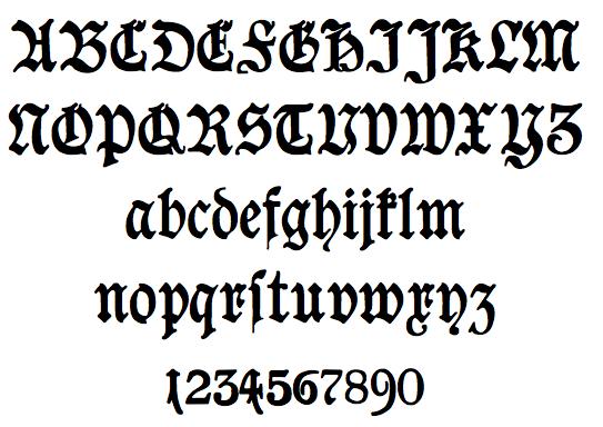 Splice   hybrid font: Blackletter Fonts