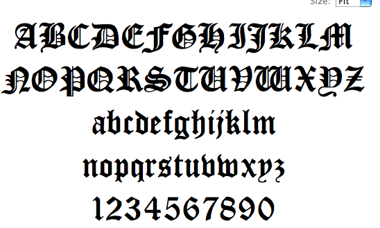 Splice | hybrid font: Blackletter Fonts