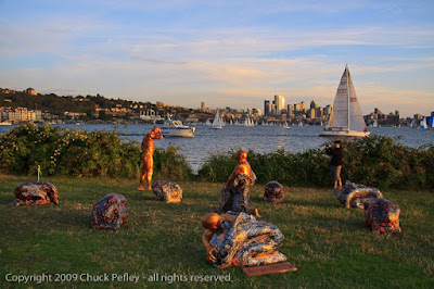 Image result for Gas Park, Seattle one night a bunch of paper mache statues appeared