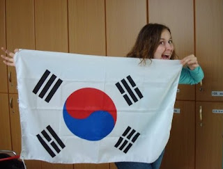South Korean flag, V. Michelle Bernard