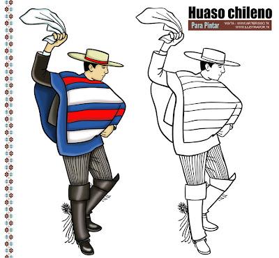 18 De Septiembre Dibujos De Huaso Chileno Bailando Cueca