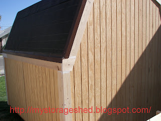 How To Build A Storage Shed Step 6 Install Storage Shed Trim