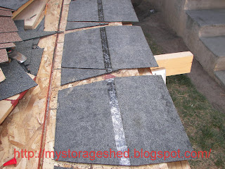 How To Build A Storage Shed Step 7 Install Shingles And