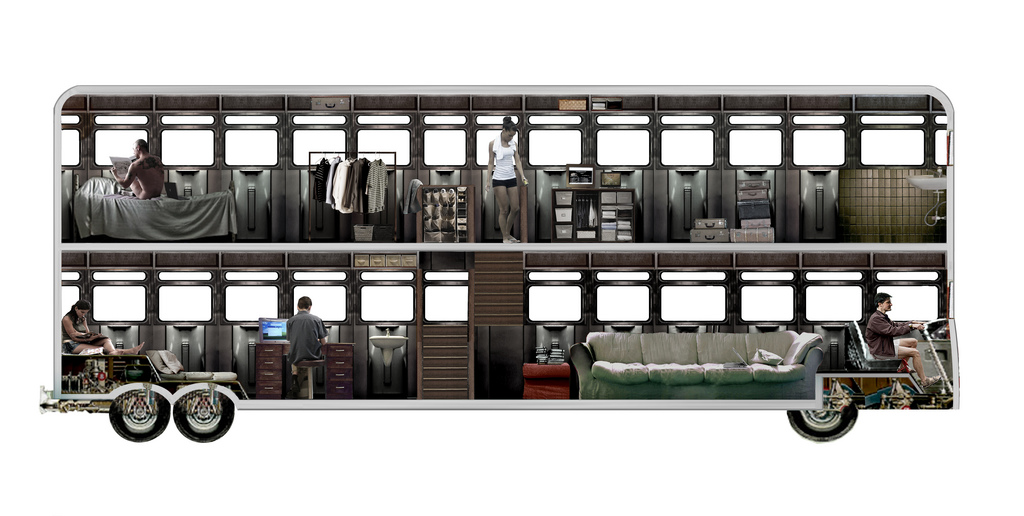 Water Closet Dimensions Transit-city / Urban & Mobile Think Tank: Two Floor Bus Hotel