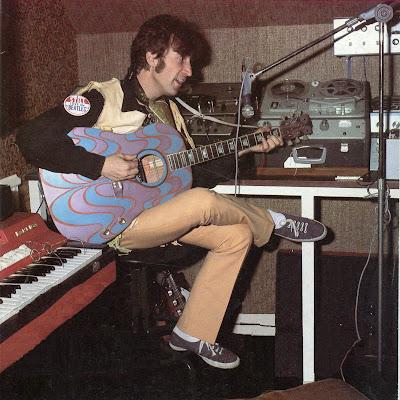 john lennon 39 s psychedelic guitar john lennon 39 s gibson j160e 1967. Black Bedroom Furniture Sets. Home Design Ideas