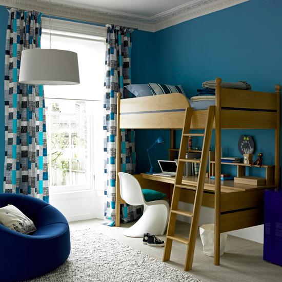 Blue Kids Room: The Farmers Daughter: Blue Boys Bedroom