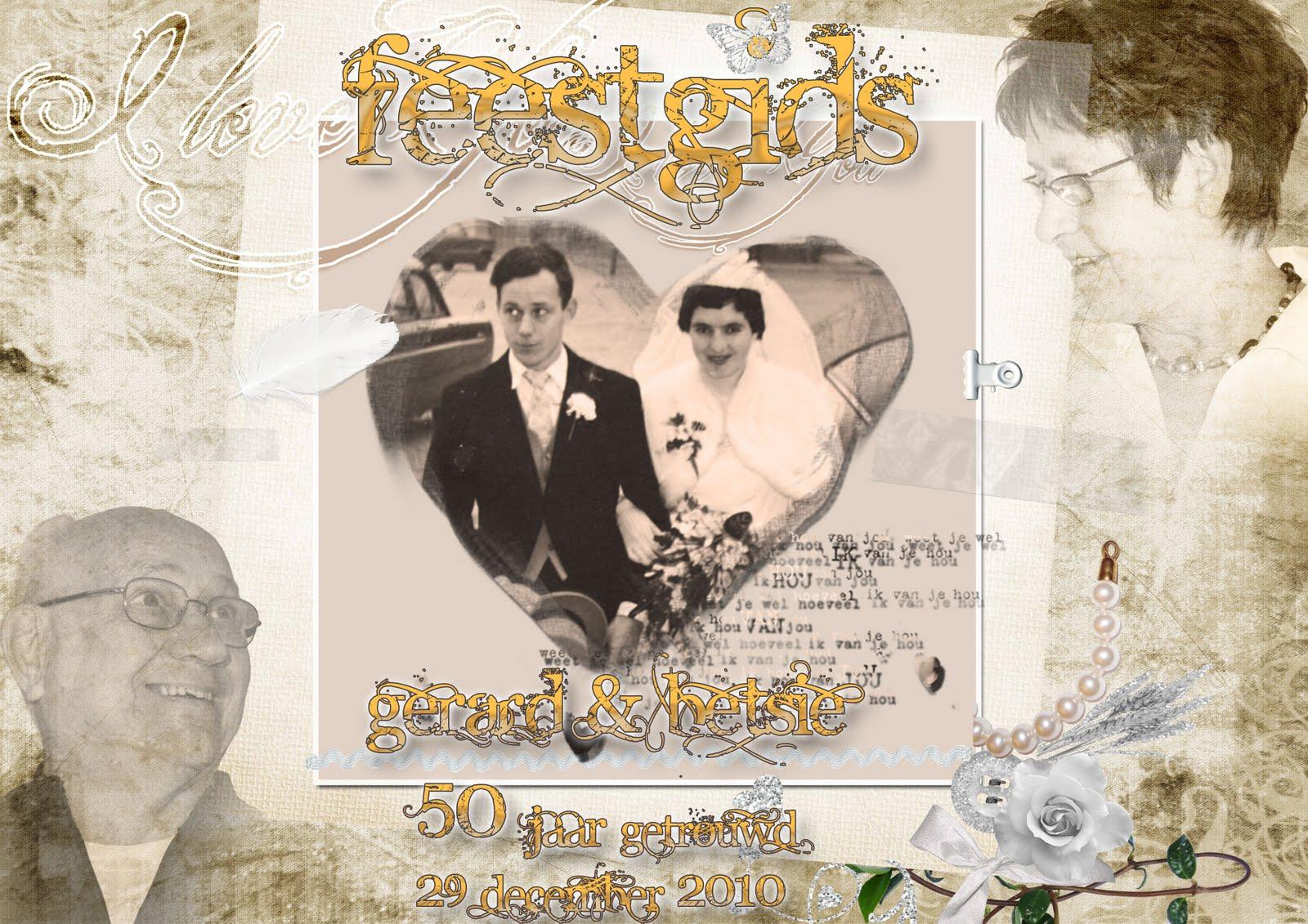 feestgids 25 jarig huwelijk Collage 50 Jaar Getrouwd   ARCHIDEV feestgids 25 jarig huwelijk