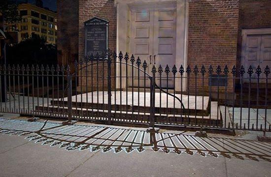 shadow street art gate
