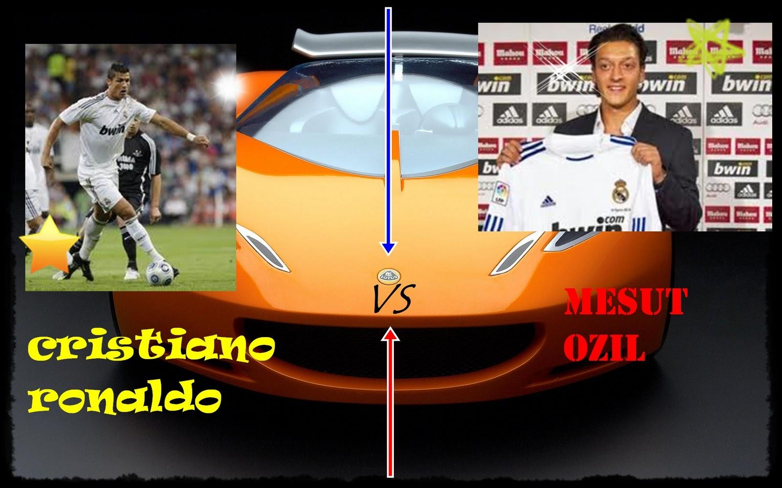 ANTONIO FOTO MONTAJES: Cristiano Ronaldo Vs Mesut Ozil
