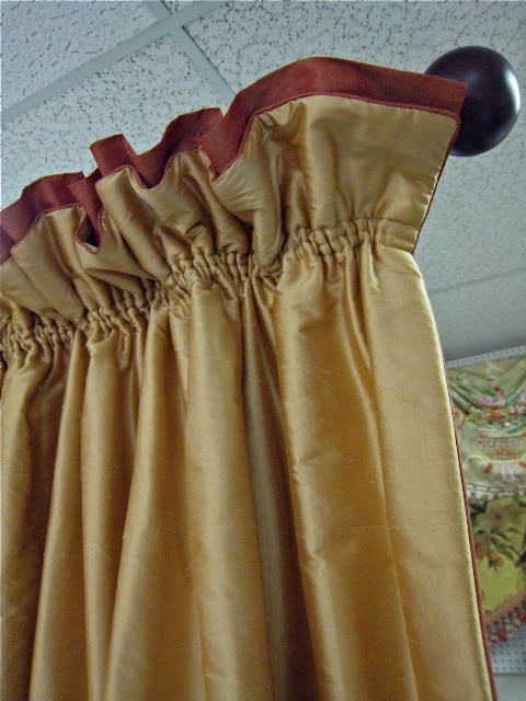 Leatherwood Design Co Shirred Top Drapery