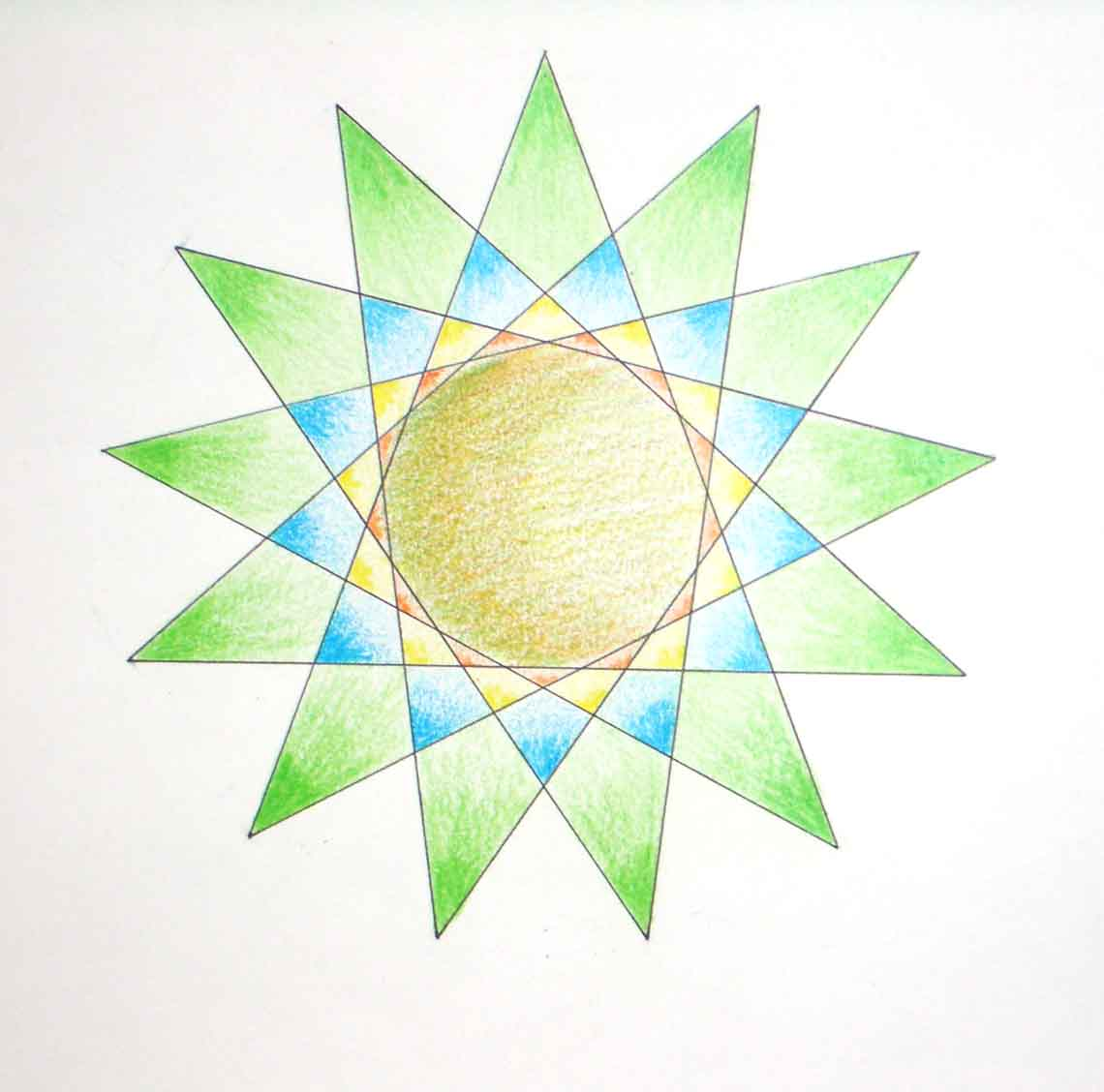 Saperedibujo Polgonos estrellados 3 ESO