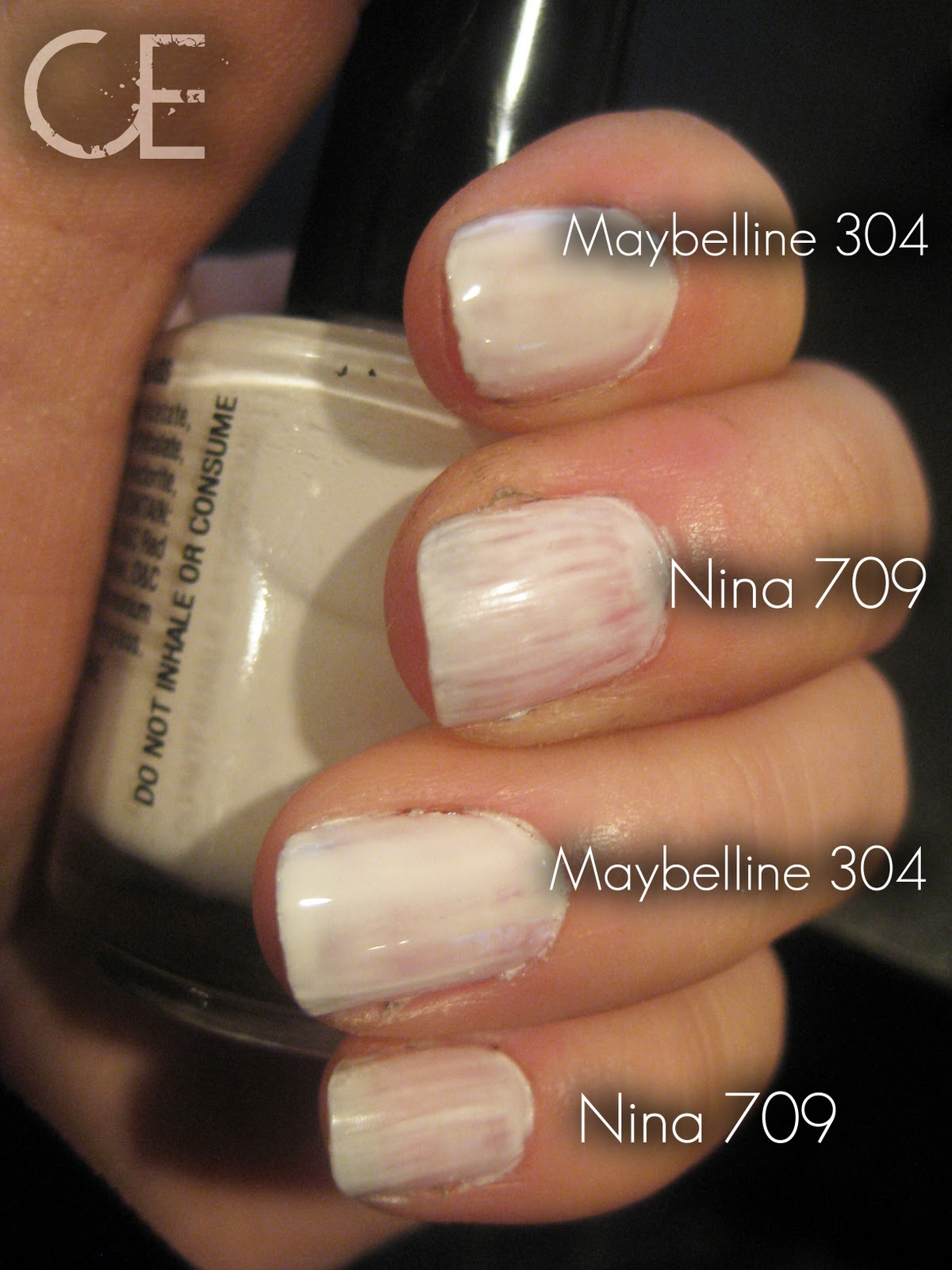 Makeup Etc Versus White Nail Polish