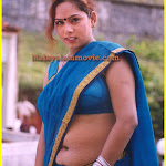 Mallu b grade actress Sindhu hot Neval Show in Saree