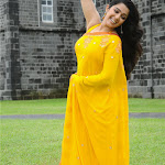 Charmee Sexy In Yellow Saree