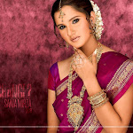 Sania Mirza Sexy In Red Saree