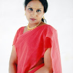 Asha In Red Saree