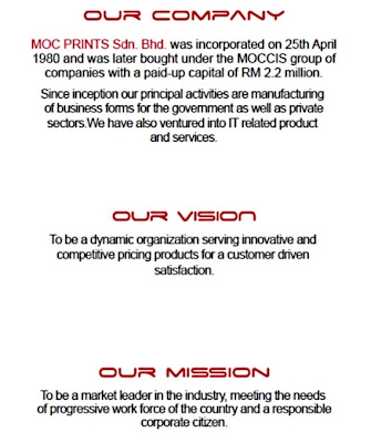 MOCPrints blogspot com: Company Profile ( pdf ) = vision