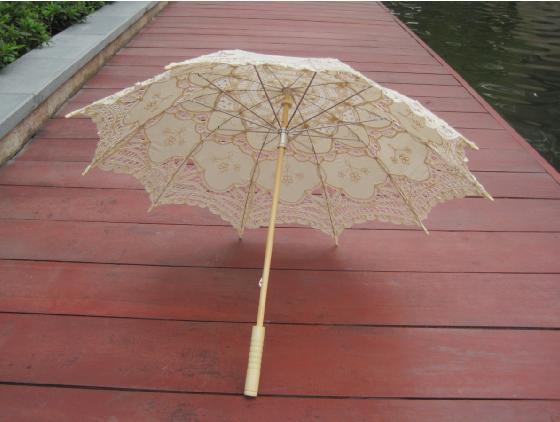 sombrilla victoriana beige